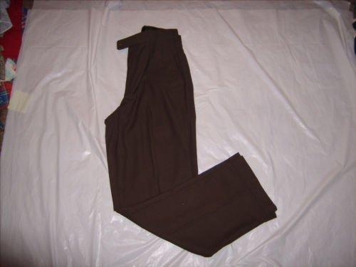 George Brown Pleated Cuffed Dress Pants size 30x32 EUC