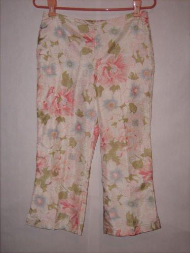 Girl's K.C. Parker Floral Print Pant Capris Size 16