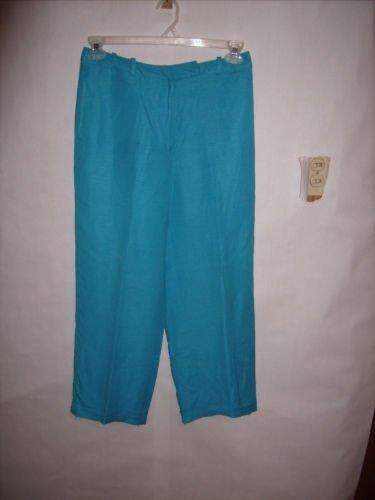 David N Aqua Blue Pant Capris size 8 EUC