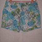 Fashion Bug Floral Print Shorts size 16 Cute