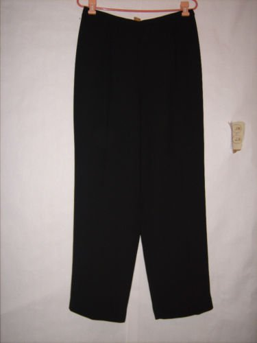 David Warren New York Black Dress Pants size 14 Flat
