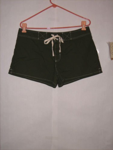Catalina Green Cotton Short Shorts Size L NWT