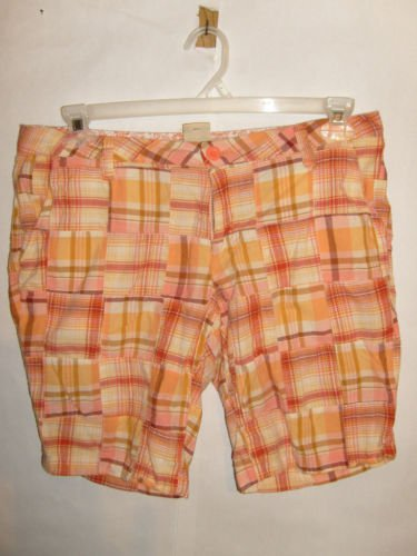 Arizona Plaid Cotton Low rise Shorts size 11 Juniors
