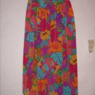 Jordan Floral Print Long Skirt size 8 Elastic Waist