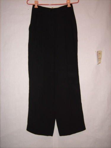 Anne Klein II Black Pleated Dress Pants size 8 With Pockets
