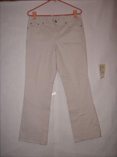 Arizona Jean Co Beige denim khaki Pants size 34x28 Women's