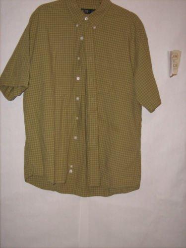 R&R Casuals Plaid Button Down Dress Shirt Size XL Short Sleeve
