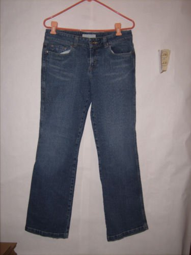 Maurices Sophie Boot Distressed Denim Jeans size 3/4 Reg