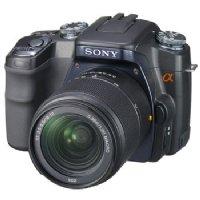 Sony α (alpha) DSLR-A100W (2 lens kit) (black)