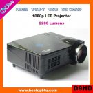 Portable mini led projector HDMI 1080p with USB/SD reader (D9HD)