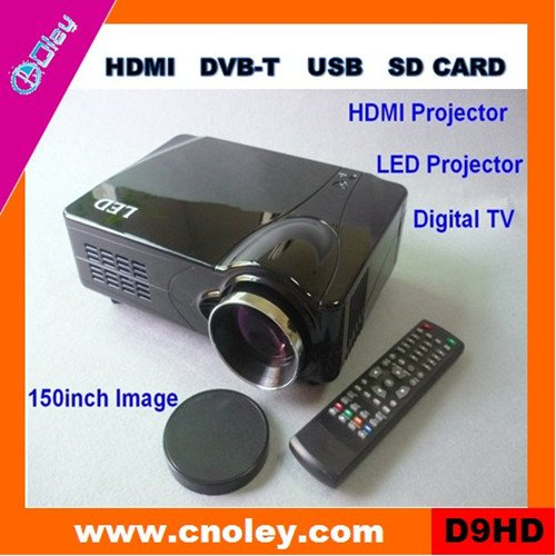 Cheap portable led overhead projector HDMI 1080p with USB/SD reader (D9HD)