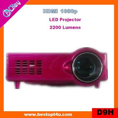Cheap portable led video projector 1080p (D9H)