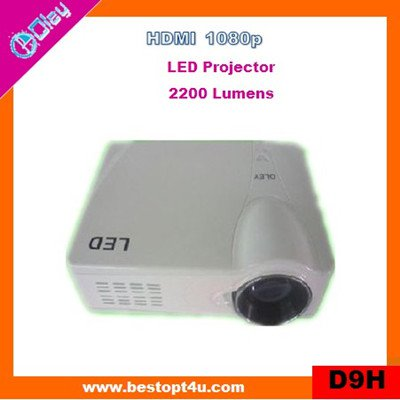 Cheap mini led projector support HDMI 1080p (D9H)