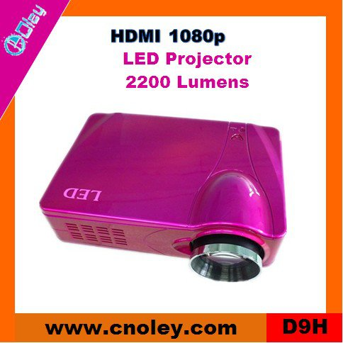 Portable mini video projector support HDMI 1080p (D9H)