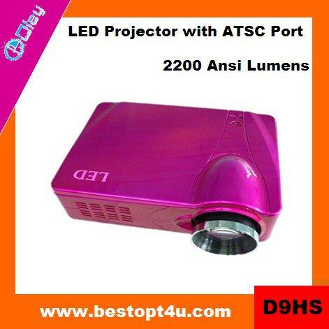Portable hd led video projector 1080p (D9HS)