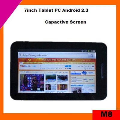 Cheap 7inch capacitive screen tablet pc mid android 2.3 support flash 10.3 (M8)