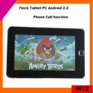 Cheap 7inch android 2.2 tablet pc mid phone call via 8650 (M12)