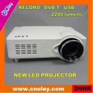 Portable hd led projector with DVB-T/USB/Record function (D9HR)