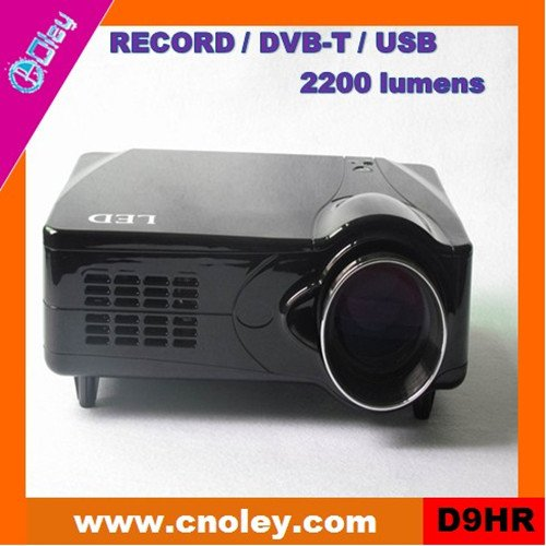 Cheap hd led projector with DVB-T/USB/Record function (D9HR)