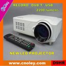 Cheap digital led projector with DVB-T/USB/SD (D9HR)