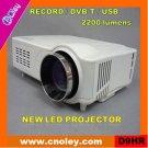 Promotion! Cheap digital tv projector with DVB-T/USB/SD (D9HR)