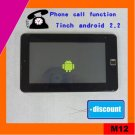 low cost 7inch android 2.2 tablet pc via8650, 720MHZ, phone call(M12)