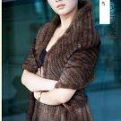Gorgeous Genuine REAL Hand Knited Mink Fur Shawl/Scarf, Brown