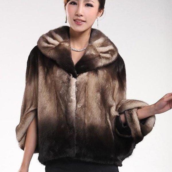 Top Qulity, Luxury, Genuine Real  Mink Fur Coat Black/Brown