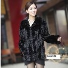 Top Qulity, Luxury, Genuine Real Mink Fur Coat / Jacket, Black, XXL