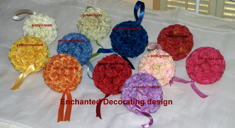 Pomander Ball two toned Kissing Ball 5 inch Wedding Flower Decoration