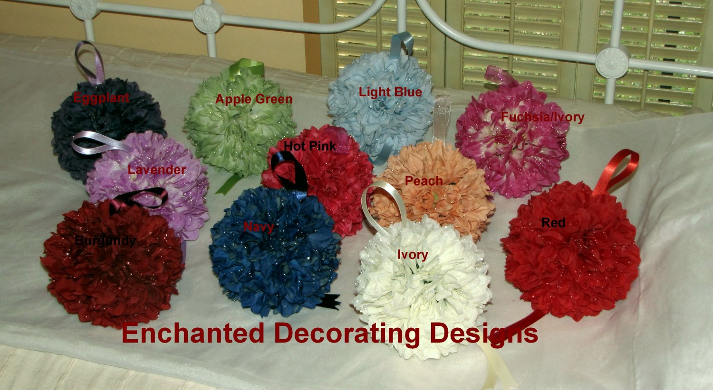 Pomander Ball Dahlia 5 inch Wedding Flower Decoration Kissing Ball