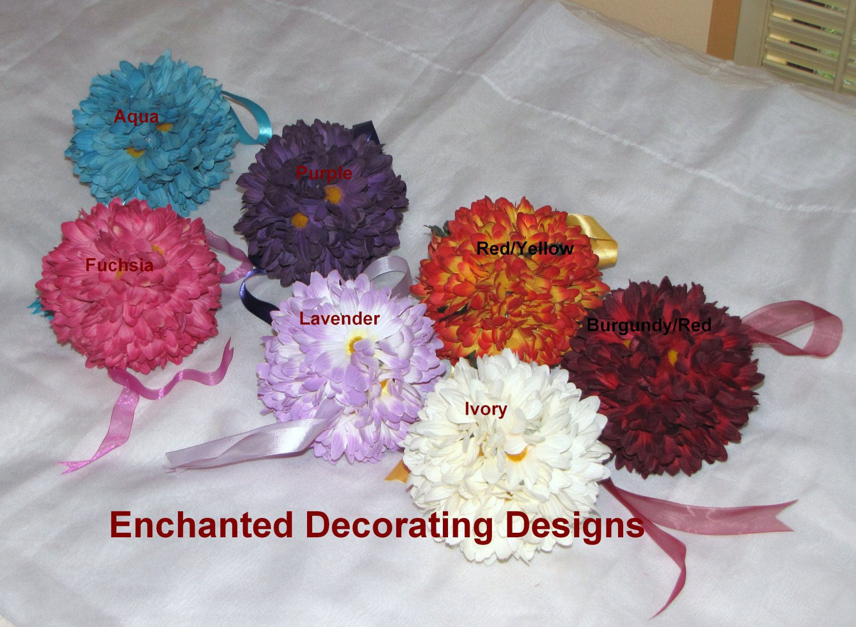 Pomander Ball 5 inch Daisy Wedding Flower Decoration Kissing Ball