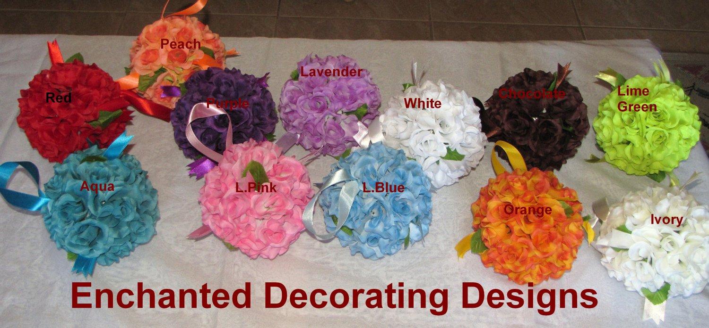 Rose Pomander Ball 7 inch Wedding Flower Decoration Kissing Ball