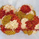 Pomander Ball Lot of 4 6 inch Mums Wedding Flower Decoration Kissing Ball