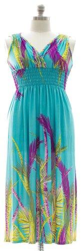 Plus Size Surplice Maxi Dress with Cinch- Teal  1X 2X 3X