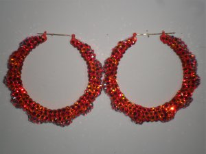 Orange Cream Sicle - Swarovski Crystal Bamboo Earrings On Sale Lowest Price