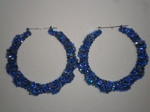 Blue-Berrys - Swarovski Crystal Bamboo Earrings On Sale Lowest Price