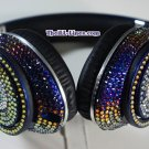 Beats Studio Over Ear Headphones made with Blue Iridescent Swarovski Elements