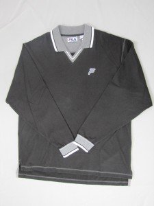 NWT FILA MENS LONG SLEEVE COLLARED SHIRT WITH BACK LOGO LETTERING SIZE LARGE