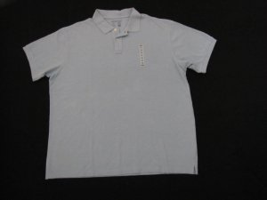 OLD NAVY BIG MENS SHORT SLEEVE PIQUE POLO SHIRT LIGHT BLUE SHADE SIZE XXL