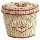 NWT PIER 1 IMPORTS SMALL COVERED BASKET DISCONTINUED AND HARD TO FIND