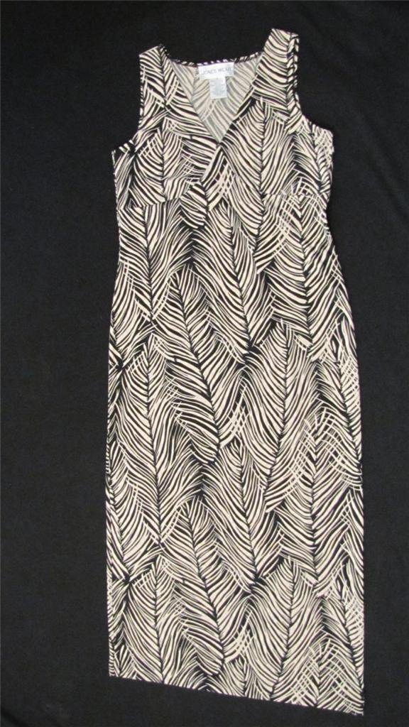 JONES WEAR SLEEVELESS SPRING/SUMMER MAXI DRESS SIZE SMALL