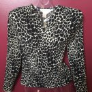 NWT BEAUTIFUL MISSES LONG SLEEVE V NECK ANIMAL PRINT BLOUSE SIZE S