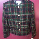 NWT MISSES VERY PRETTY JONES WEAR PLAID BLAZER SIZE 10