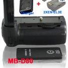 MB-D80 Battery Grip for Nikon D80/D90 + 2x EN-EL3E+ Remote Control +Battery Charger