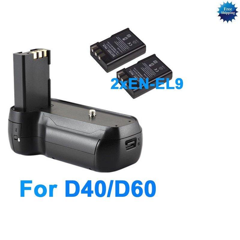 Grip for Nikon D40 D40X D60 D3000+2 EN-EL9