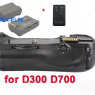 Battery Grip for D300 D700 MB-D10+2 EN-EL3e +remote control