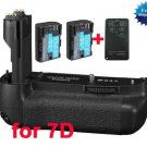 Canon BG-E7 Battery Grip + 2x LP-E6 + Remote Control CANON RC-1 RC-5 RC-6 +Battery Charge​r