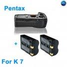 Battery Grip for Pentax K7 as D-BG4 +2 D-LI90