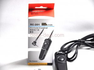 pixel Shutter Release Remote Cord for CANON G12 G11 Rebel T1i XSi XS XTi RS-60E3